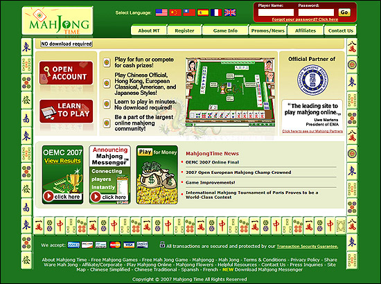 mahjong time